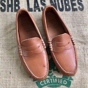 Allen Edmonds penny loafer Brown driving shoe 10
